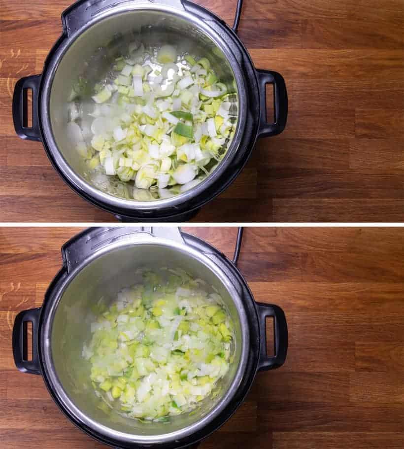 Instant Pot Potato Leek Soup | Pressure Cooker Potato Leek Soup: how to cook leeks