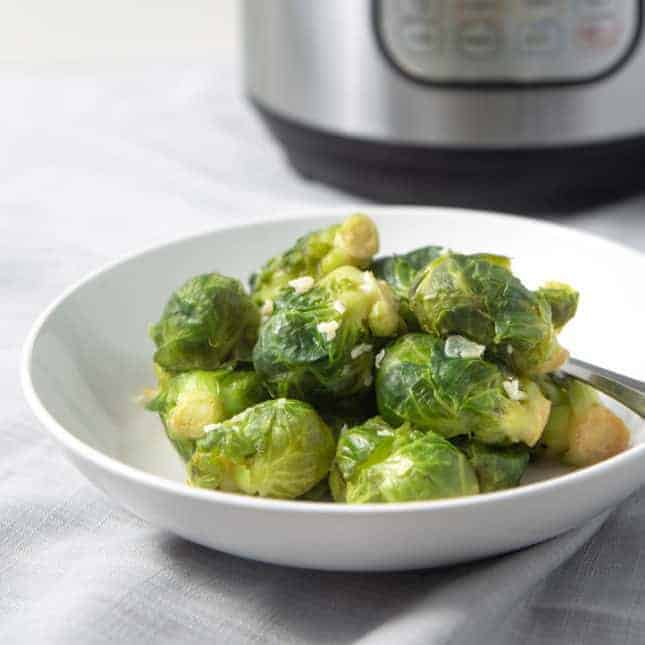 Instant Pot Thanksgiving Recipes: Instant Pot Brussels Sprouts (Pressure Cooker Brussels Sprouts)