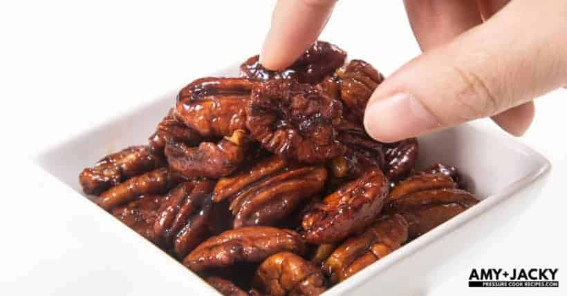Instant Pot Firecracker Candied Pecans | Pressure Cooker Firecracker Candied Pecans | Instant Pot Snacks | Glazed Pecans | Spiced Pecans | How to make Candied Pecans | Nuts | Christmas Gifts | Homemade Gifts | Holiday Gifts | Food Gifts
