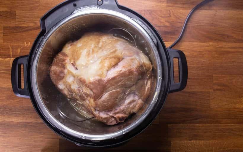 Instant Pot Ham | Pressure Cooker Ham: check temperaeture of honey glaze ham in Instant Pot Pressure Cooker