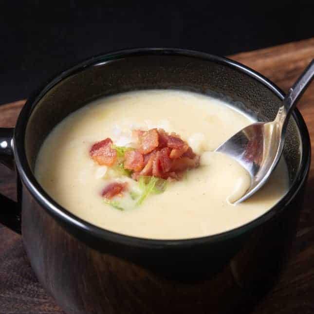 Instant Pot Christmas Recipes: Instant Pot Potato Soup (Pressure Cooker Potato Soup)