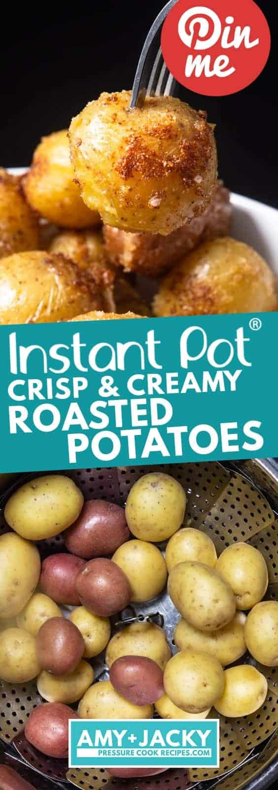 Instant Pot Roasted Potatoes | Instapot Roasted Potatoes | Pressure Cooker Roasted Potatoes | Instant Pot Baby Potatoes | Instapot Baby Potatoes | Pressure Cooker Baby Potatoes | Instant Pot Potatoes | Pressure Cooker Potatoes #instantpot #pressurecooker #recipes #side #easy #healthy #vegetarian