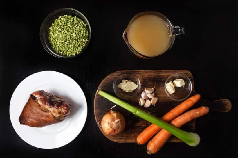 Instant Pot Split Pea Soup | Pressure Cooker Split Pea Soup Recipe Ingredients