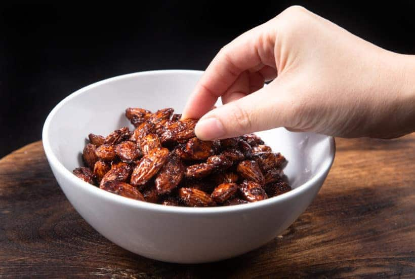 Instant Pot Churro Almonds | Cinnamon Candied Almonds | Caramelized Almonds | Spicy Candied Almonds | Candied Nuts | Christmas Food Gifts | Homemade Christmas Gifts | Edible Gifts