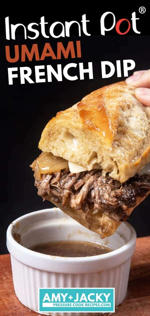 Instant Pot French Dip | Pressure Cook French Dip | Instapot French Dip Sandwiches | Beef Dip | Instant Pot Chuck Roast | Instant Pot Beef Recipes | Healthy Instant Pot Recipes #instantpot #pressurecooker #recipes #easy #beef