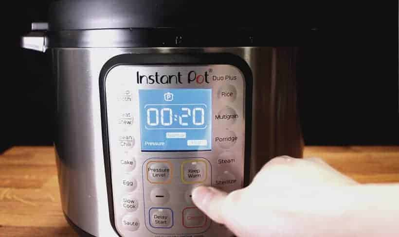 Instant Pot Pressure Cooker High Pressure Cooking at 20 minutes