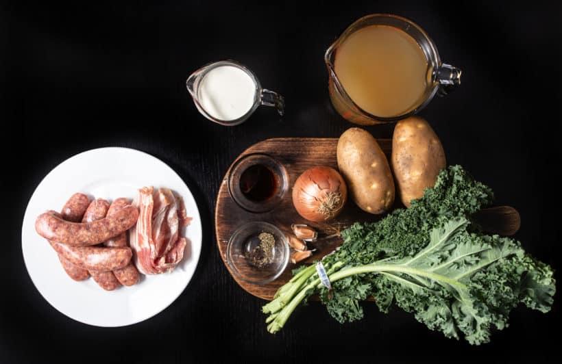 Instant Pot Zuppa Toscana Recipe | Pressure Cooker Zuppa Toscana Soup | Instant Pot Sausage Kale Potato Soup Ingredients