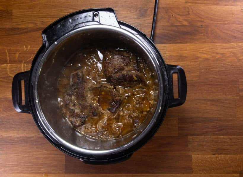 Instant Pot French Dip | Pressure Cook French Dip: pressure cooked chuck roast in Instant Pot Pressure Cooker