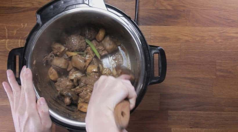 Instant Pot Chinese Lamb Stew | Pressure Cooker Lamb Stew: deglaze Instant Pot Pressure Cooker