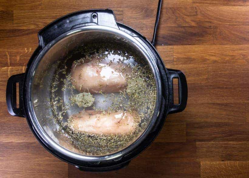 Instant Pot Frozen Chicken Breast | Pressure Cooker Frozen Chicken Breast: add frozen chicken breasts in Instant Pot Pressure Cooker
