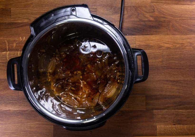 Instant Pot Brisket | Pressure Cooker Beef Brisket: thicken bbq sauce in Instant Pot Pressure Cooker