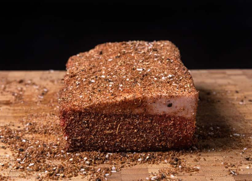 Instant Pot Brisket | Pressure Cooker Beef Brisket: rub dry rub on beef brisket