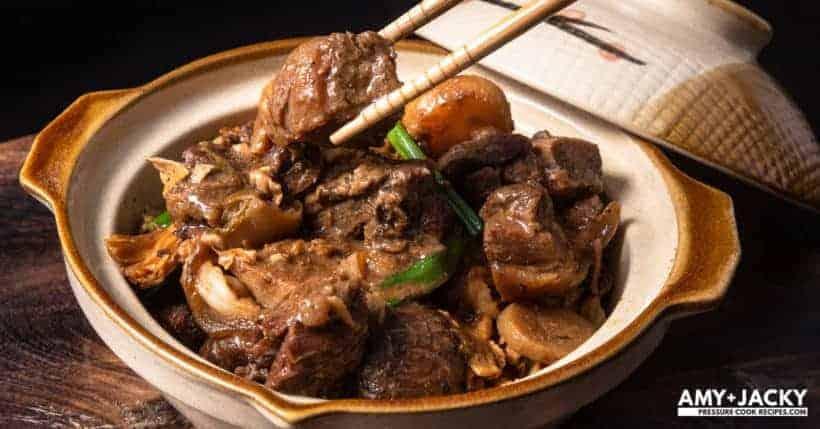 Instant Pot Lamb Stew | Pressure Cooker Lamb Stew | Instapot Lamb Stew | Chinese Lamb Stew | Lamb Hot Pot | Lamb Recipes | Instant Pot Recipes | Pressure Cooker Recipes | 枝竹羊腩煲