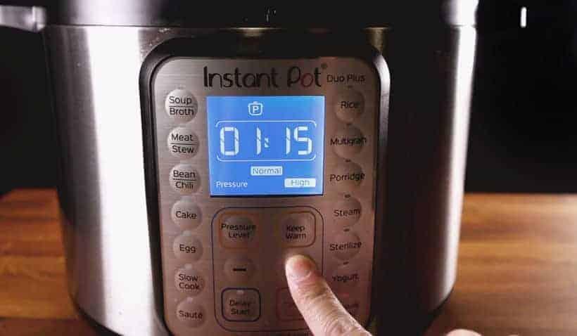 Instant Pot Pressure Cooker High Pressure Program 75 minutes