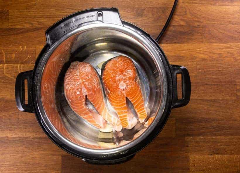 Instant Pot Teriyaki Salmon (Instant Pot Fish): add salmon steaks in Instant Pot Pressure Cooker