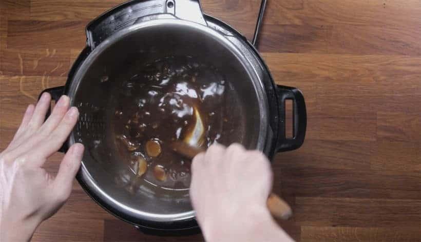 Instant Pot Teriyaki Salmon (Instant Pot Fish): thicken homemade teriyaki sauce in Instant Pot Pressure Cooker