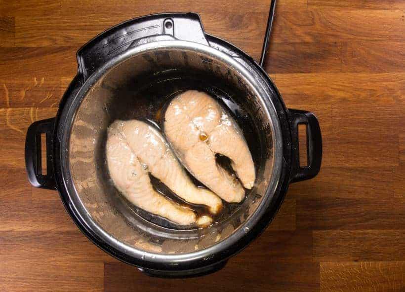 Instant Pot Teriyaki Salmon (Instant Pot Fish): pressure cook salmon steaks in Instant Pot Pressure Cooker