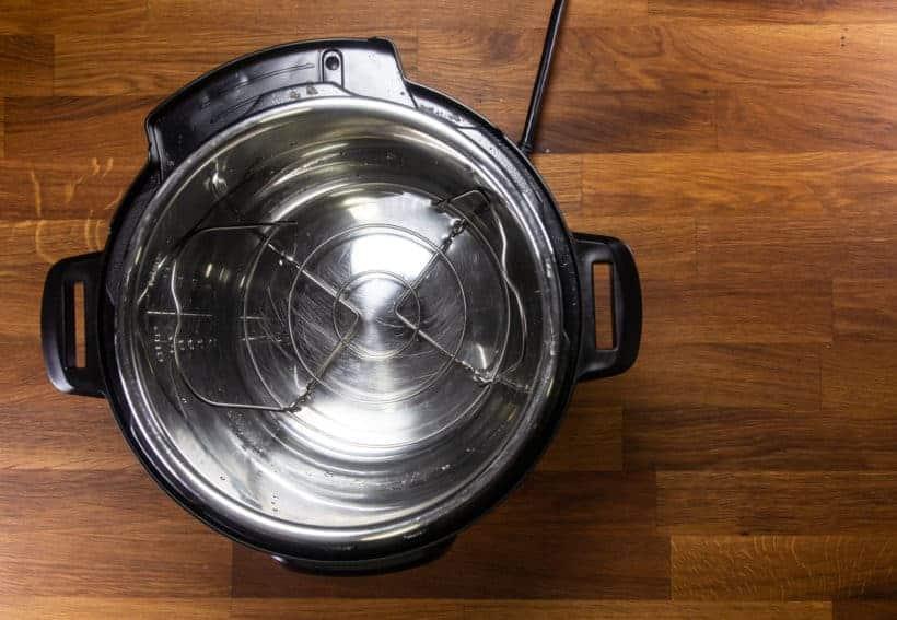 Instant Pot Pot in Pot Rice: add Instant Pot Trivet in Instant Pot Pressure Cooker