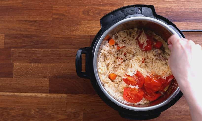 Chicken and Rice Recipe: taste and season chicken and rice in Instant Pot  #AmyJacky #InstantPot #recipe #chicken #rice #healthy