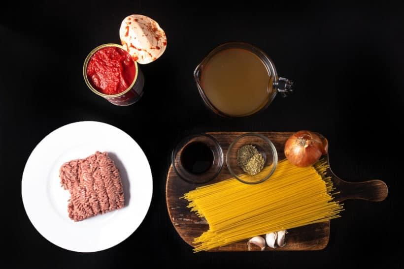 Instant Pot Spaghetti Recipe Ingredients #AmyJacky #InstantPot #PressureCooker #recipe #healthy #easy