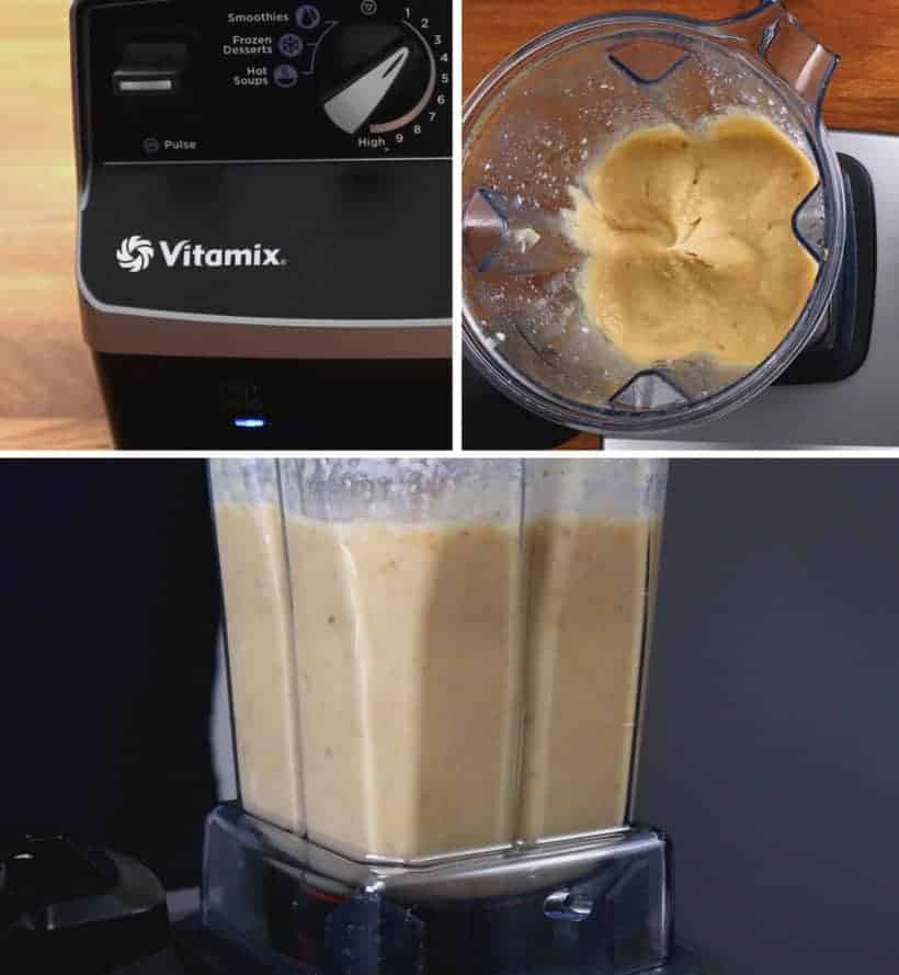 Vitamix Hummus: blend chickpeas in Vitamix Blender to make homemade hummus  #AmyJacky #vitamix #blendtec #ninja #blender #recipe #vegan #GlutenFree #vegetarian