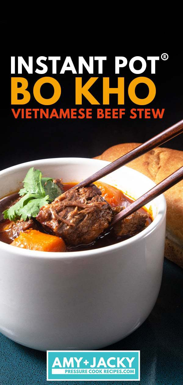 Instant Pot Bo Kho | Pressure Cooker Bo Kho | Bo Kho Recipe | Instant Pot Vietnamese Beef Stew | Instant Pot Beef Stew | Pressure Cooker Beef Stew | How to make beef stew | Easy beef stew recipe | Instant Pot Vietnamese Food Recipes #AmyJacky #InstantPot #PressureCooker #beef #asian #recipes