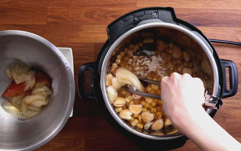 Instant Pot Chickpeas | Pressure Cooker Chickpeas: remove onions in Instant Pot Pressure Cooker  #AmyJacky #InstantPot #PressureCooker #recipes #vegan #GlutenFree #vegetarian