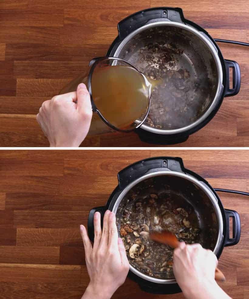 easy chicken recipes: deglaze Instant Pot Pressure Cooker #AmyJacky #InstantPot #PressureCooker #recipes #easy #chicken