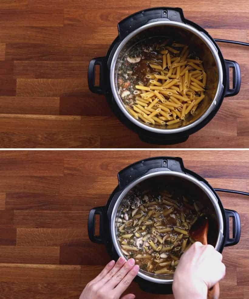 Instant Pot Chicken Pasta: add penne pasta in Instant Pot Pressure Cooker  #AmyJacky #InstantPot #PressureCooker #recipes #pasta #chicken