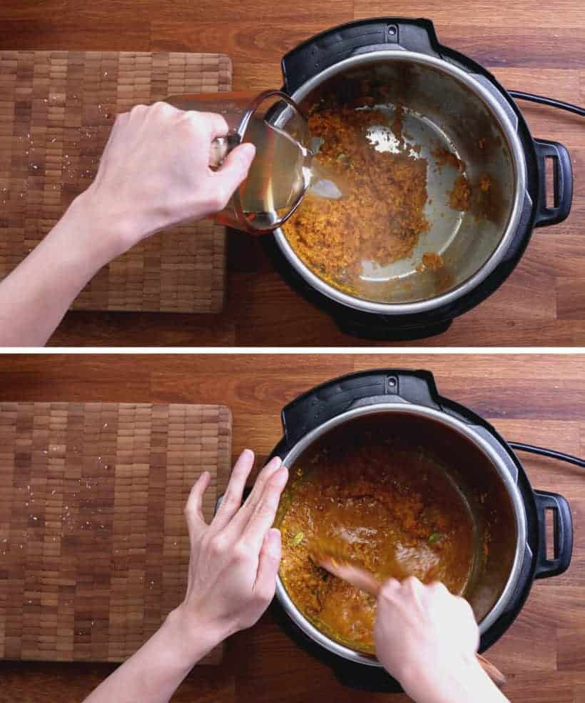 Pressure Cooker Rendang: deglaze rendang paste in Instant Pot Pressure Cooker #AmyJacky #InstantPot #PressureCooker #recipe