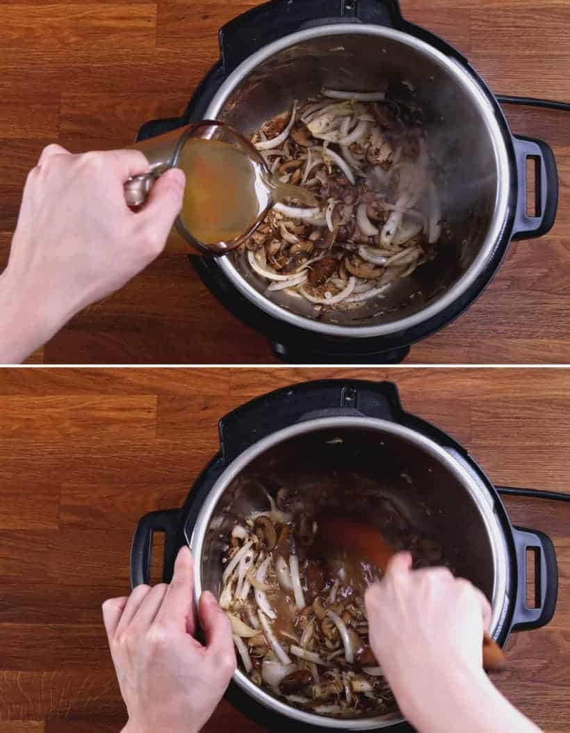 instant pot pork chop dinner: deglaze Instant Pot   #AmyJacky #InstantPot #PressureCooker #recipes #easy