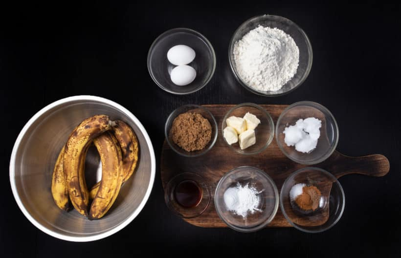 Instant Pot Banana Bread Recipe Ingredients #AmyJacky #InstantPot #PressureCooker #recipes #cake