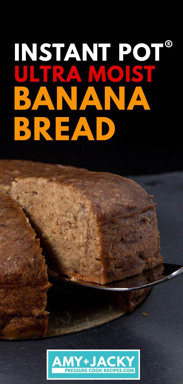 instant pot banana bread | banana bread instant pot | pressure cooker banana bread | instant pot banana recipes | instant pot banana bread recipe | best banana bread recipe | easy banana bread recipe | moist banana bread | homemade banana bread #AmyJacky #InstantPot #PressureCooker #recipes