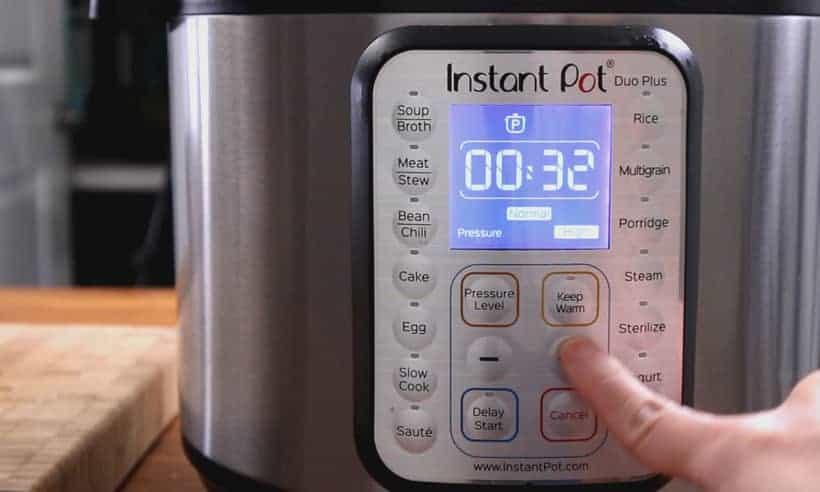 Instant Pot Pressure Cooker High Pressure 32 minutes