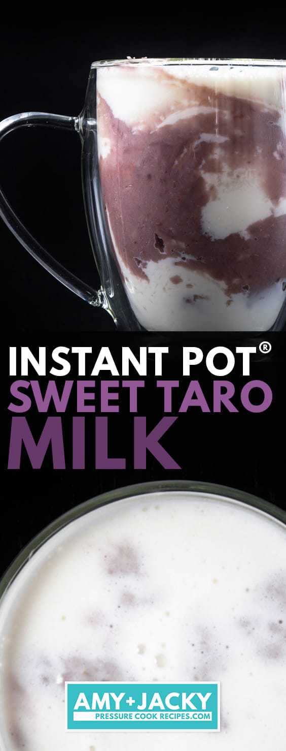 Instant Pot Taro Milk | 芋頭鮮奶 | Instant Pot Sweet Potatoes | Pressure Cooker Taro | cooking taro in instant pot | Instant Pot Drinks | Instant Pot Asian Recipes | Instant Pot Taiwanese Recipes | Bubble Tea #AmyJacky #InstantPot #PressureCooker #recipes #healthy #asian