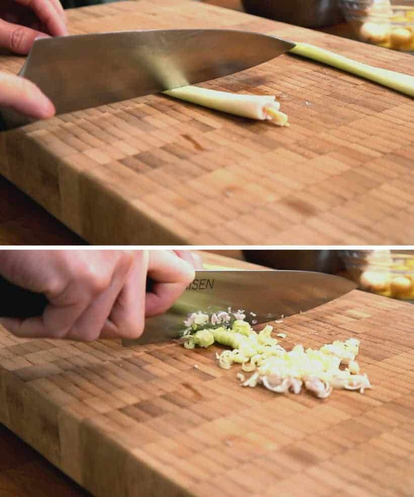 How to Cut Lemongrass #AmyJacky #InstantPot #PressureCooker #asian #recipe
