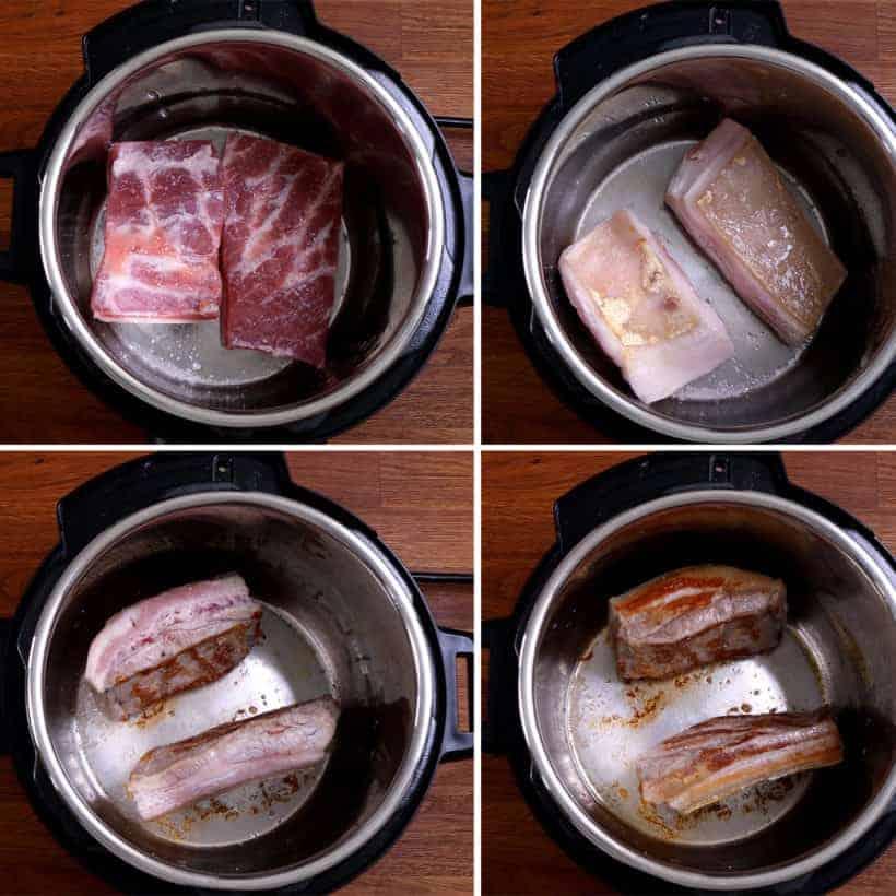 Instant Pot lu rou fan   滷肉飯   pressure cooker taiwanese braised pork: brown pork belly in Instant Pot Pressure Cooker  #AmyJacky #InstantPot #PressureCooker #recipes #taiwanese #asian #pork