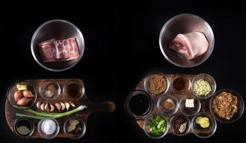 Instant Pot lu rou fan ingredients 滷肉飯  #AmyJacky #InstantPot #PressureCooker #recipes #taiwanese #asian #pork