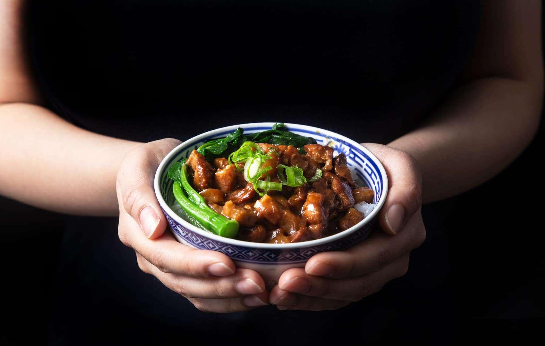 Instant Pot lu rou fan   滷肉飯   pressure cooker lu rou fan   taiwanese braised pork   taiwanese braised pork belly   instant pot pork   pork belly recipes   ru rou fan   taiwanese pork rice   taiwanese minced pork #AmyJacky #InstantPot #PressureCooker #recipes #taiwanese #asian #pork