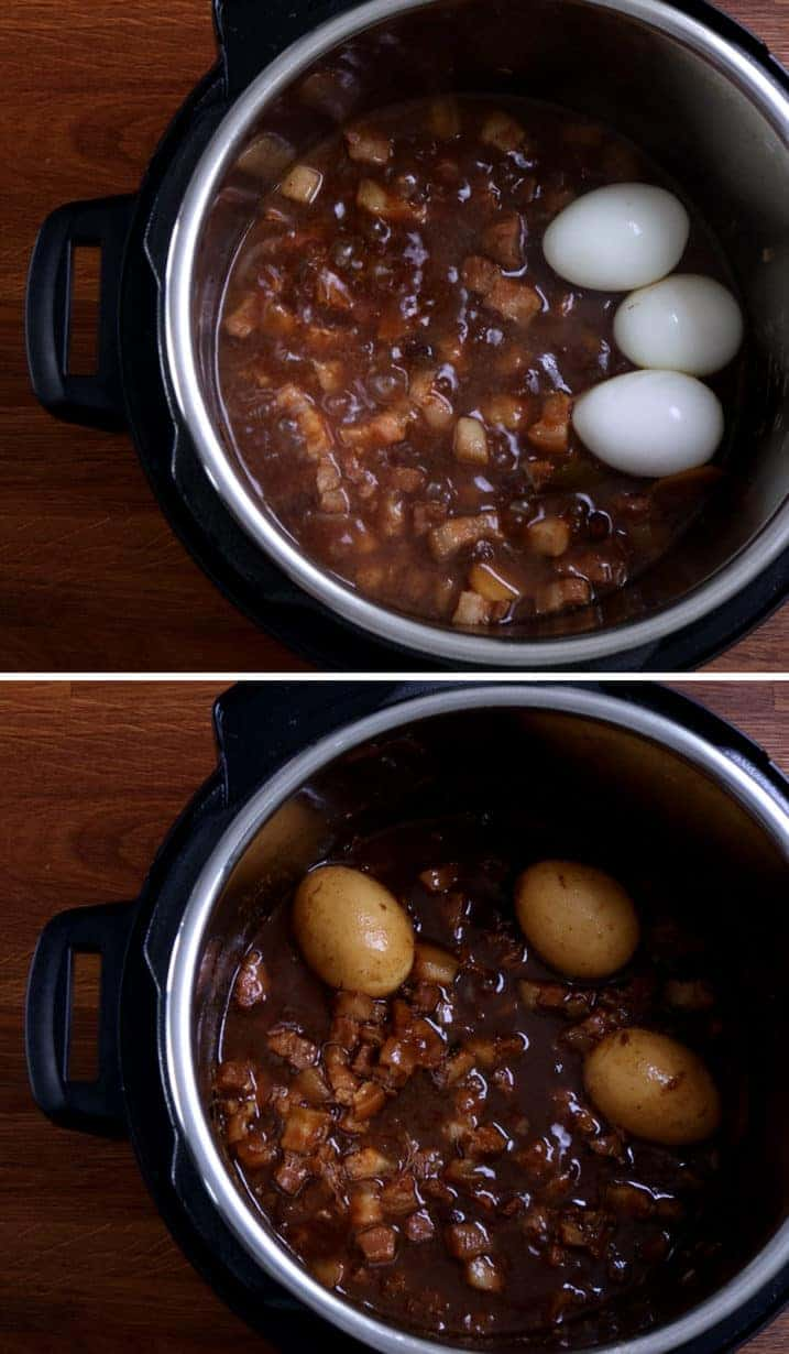 Instant Pot Taiwanese Minced Pork: add soft boiled eggs or hard boiled eggs into lu rou sauce (braised pork belly sauce) #AmyJacky #InstantPot #PressureCooker #recipe #taiwanese #asian #pork