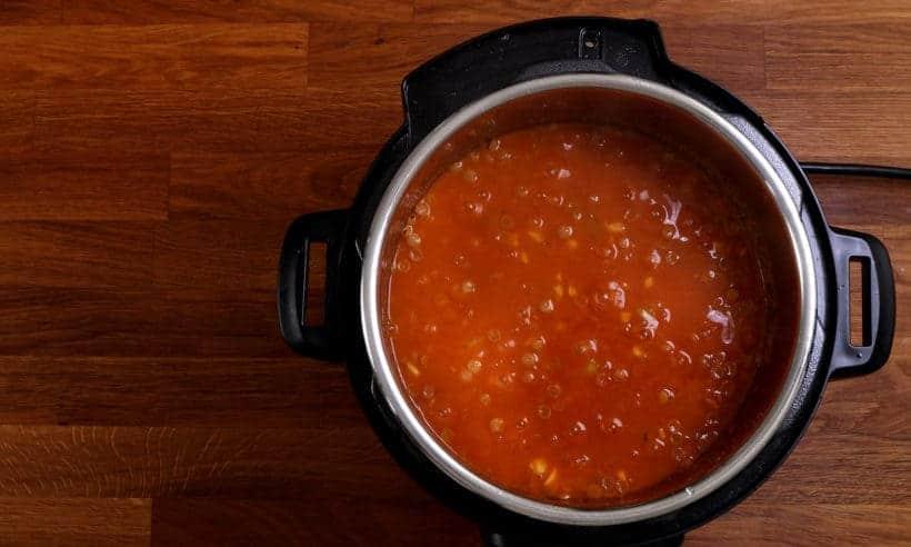 Lentil Soup Pressure Cooker: pressure cooked lentil soup  #AmyJacky #InstantPot #PressureCooker #recipe #soup #beans