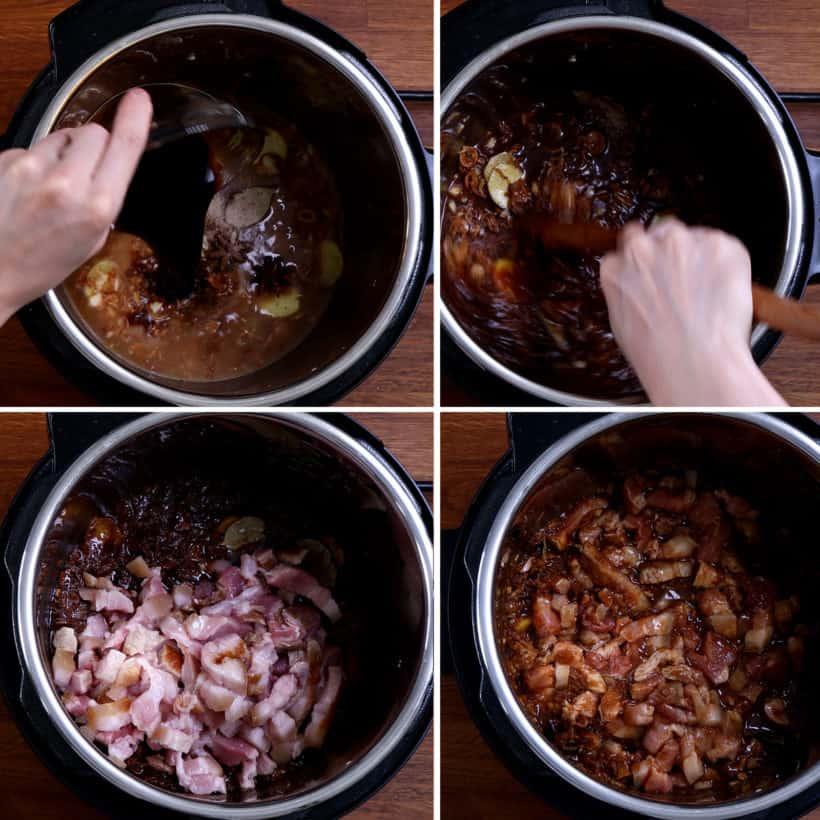 Pressure Cooker Taiwanese Braised Pork: add pork belly in Instant Pot Pressure Cooker  #AmyJacky #InstantPot #PressureCooker #recipe #taiwanese #asian #pork