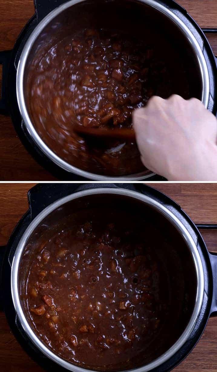 壓力鍋滷肉飯: thicken lu rou sauce in Instant Pot Pressure Cooker  #AmyJacky #InstantPot #PressureCooker #recipe #taiwanese #asian #pork