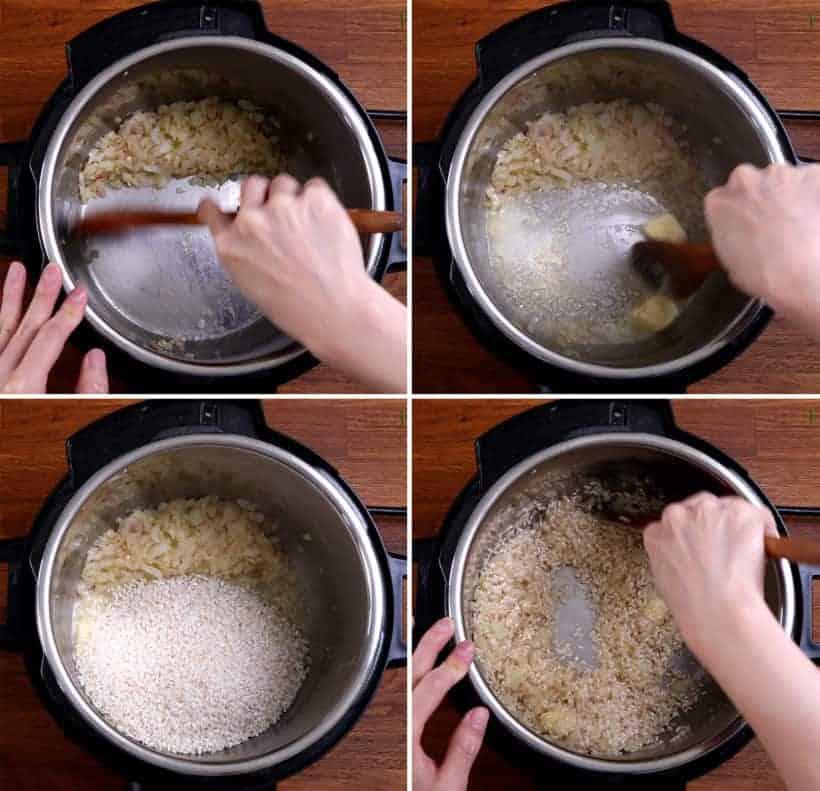 Instant Pot Arborio Rice: toast arborio rice in Instant Pot #AmyJacky #InstantPot #PressureCooker #rice #sides #vegetarian