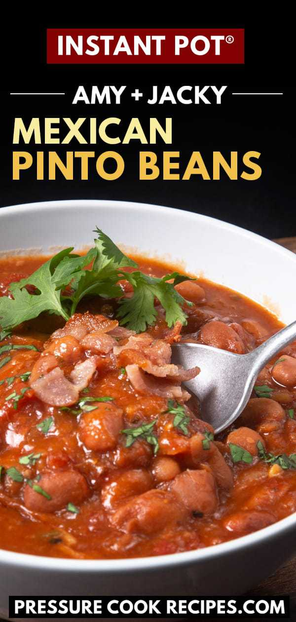instant pot pinto beans | pinto beans in instant pot | pressure cooker pinto beans | instant pot bean recipes | instant pot mexican pinto beans | dry pinto beans instant pot | mexican beans instant pot | cooking pinto beans in Instant Pot | power pressure cooker xl pinto beans | ninja foodi pinto beans | no soak instant pot pinto beans #AmyJacky #InstantPot #PressureCooker #recipe #beans #side #mexican