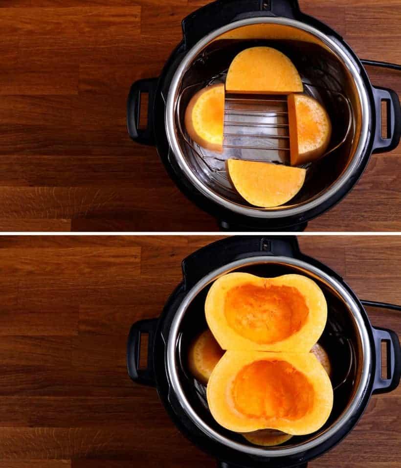 Cooking whole butternut squash in Instant Pot    #AmyJacky #InstantPot #PressureCooker #recipe #vegan #vegetarian #glutenfree