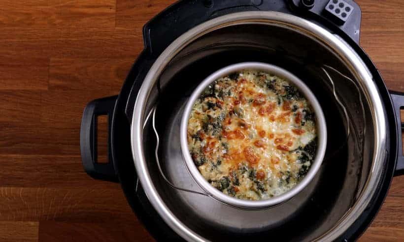 air fryer spinach artichoke dip #AmyJacky #InstantPot #PressureCooker #AirFryer #recipe