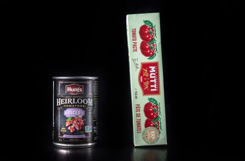 Hunts Heirloom Diced Tomatoes and Mutti Tomato Paste Tube #AmyJacky #recipe
