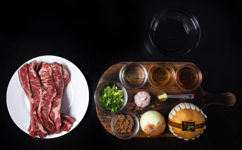 Instant Pot LA Galbi Recipe Ingredients  #AmyJacky #InstantPot #PressureCooker #recipe #beef #korean