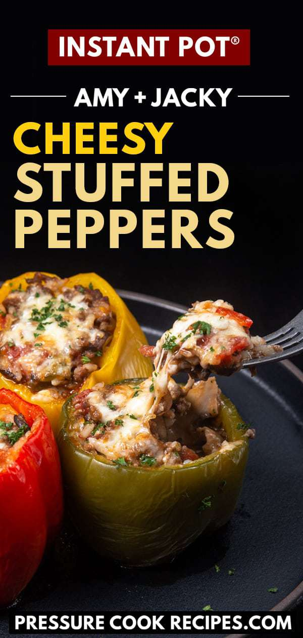 instant pot stuffed peppers | stuffed peppers instant pot | pressure cooker stuffed peppers | instant pot stuffed bell peppers | stuffed peppers recipe | instant pot stuffed green peppers | stuffed bell peppers in instant pot #AmyJacky #InstantPot #AirFryer #PressureCooker #recipe #beef #GroundBeef #rice